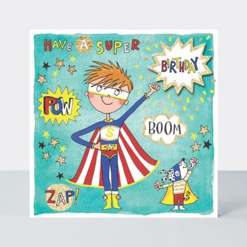 Rachel Ellen Designs Cards - Scribbles - Happy birthday Superhero
