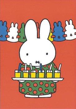 Nijntje Miffy Postcards | Tante Trijn met limonade en slingers