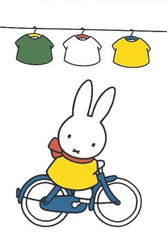 Nijntje Miffy Postcards | Nijntje op de fiets