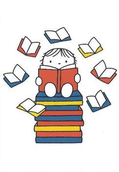 Nijntje Miffy Postcards | Kindje met boeken