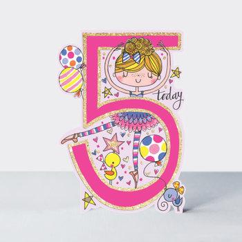 Rachel Ellen Designs Cards - Little Darlings - Age 5 Girl/Ballerina